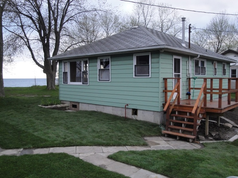 The back of the cottage.
