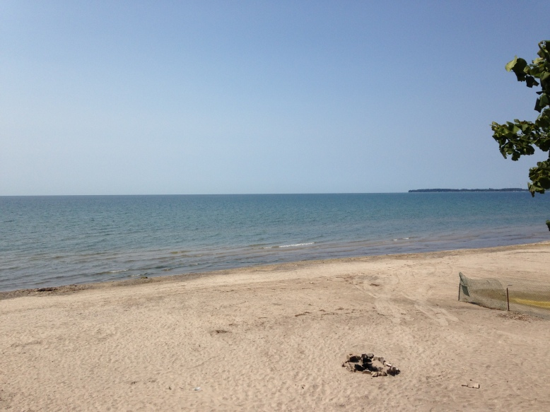 The beach in front of the Red Cottage!